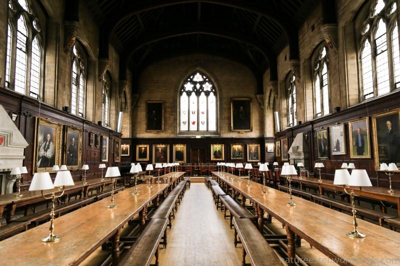 Этот зал в Balliol College очень напомнил мне сцены из Гарри Поттера. Большой торжественный зал, многовековая академическая выдержка..